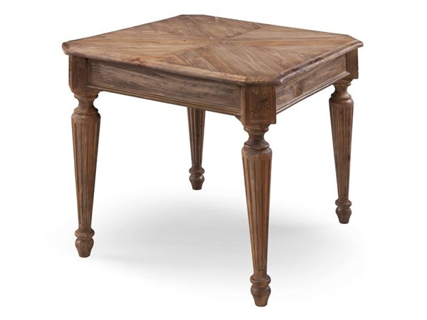 Lloyd Traditional Weathered Oat Wood Rectangular End Table MG-T4043-03