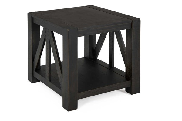 Magnussen Home Easton Dark Chocolate Rectangular End Table MG-T4097-03