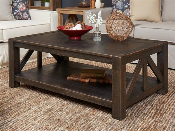 Magnussen Home Easton Dark Chocolate Rectangular Cocktail Table MG-T4097-44
