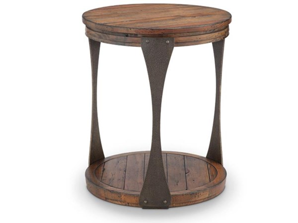 Magnussen Home Montgomery Bourbon Round End Table MG-T4112-05