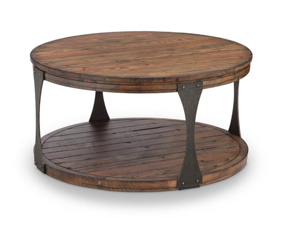 Magnussen Home Montgomery Bourbon Round Cocktail Table MG-T4112-45