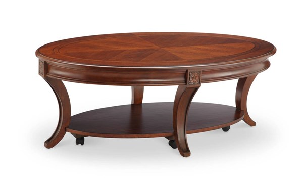 Winslet Cherry Walnut Veneer Solid Wood Coffee Table Set Occasional Tables The Classy Home