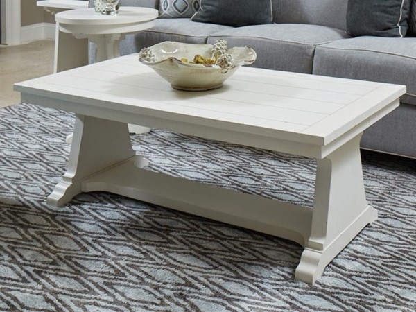 Magnussen Home Coventry Lane White Rectangular Cocktail Table MG-T4124-43