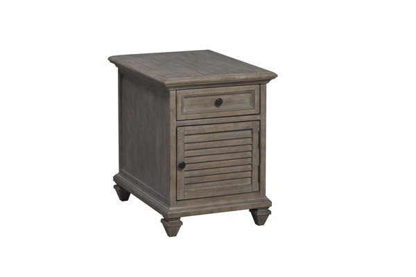 Magnussen Home Lancaster Dovetail Grey Chairside End Table MG-T4352-10