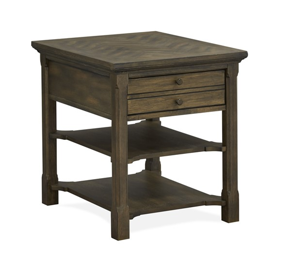 Magnussen Home Jefferson Market Aged Whiskey Rectangular End Table MG-T4381-03