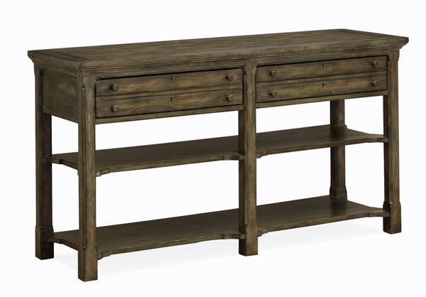 Magnussen Home Jefferson Market Aged Whiskey Rectangular Sofa Table MG-T4381-73