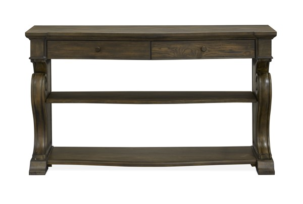 Magnussen Home Jefferson Market Aged Whiskey Console Sofa Table MG-T4381-86