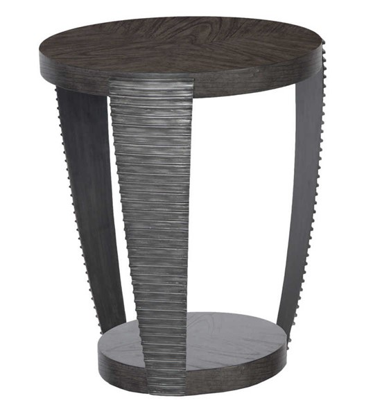 Magnussen Home Kendrick Bitter Chocolate Round End Table MG-T4396-05