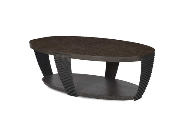 Magnussen Home Kendrick Bitter Chocolate Oval Cocktail Table MG-T4396-47