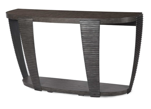 Magnussen Home Kendrick Bitter Chocolate Demilune Sofa Table MG-T4396-75