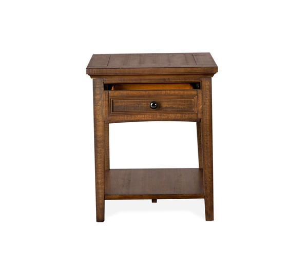 Magnussen Home Bay Creek Toasted Nutmeg Rectangular End Table MG-T4398-03