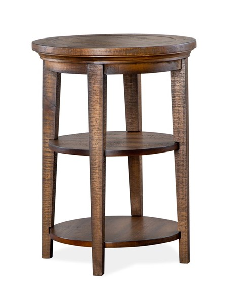 Magnussen Home Bay Creek Toasted Nutmeg Round Accent End Table MG-T4398-35