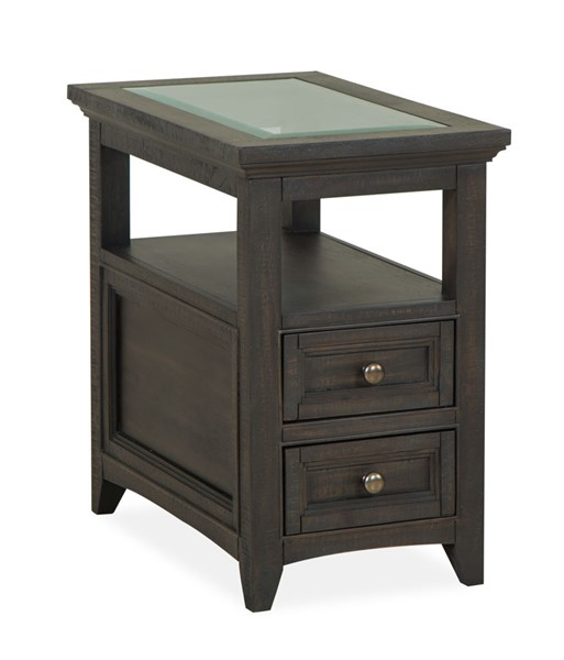Magnussen Home Westley Falls Graphite Chairside End Table MG-T4399-10