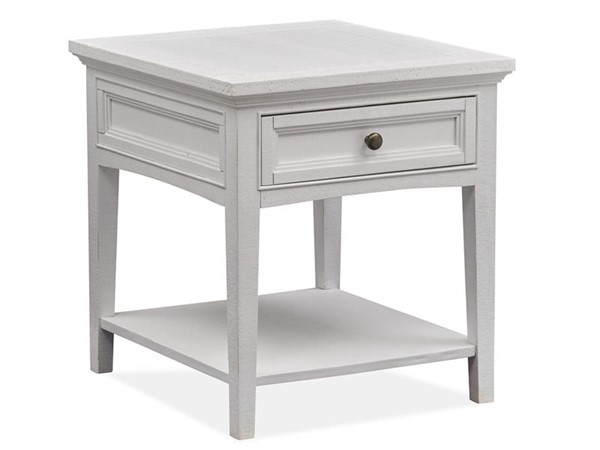 Magnussen Home Heron Cove Chalk White Rectangular End Table MG-T4400-03