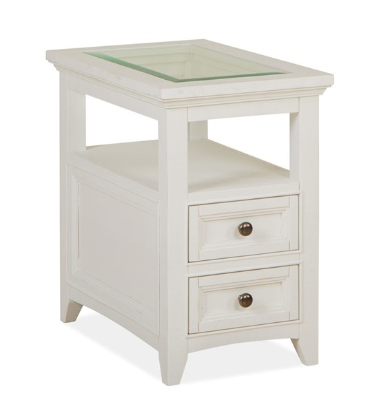 Magnussen Home Heron Cove Chalk White Chairside End Table MG-T4400-10