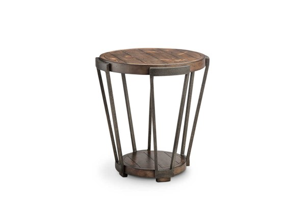 Magnussen Home Yukon Bourbon Round End Table MG-T4405-05