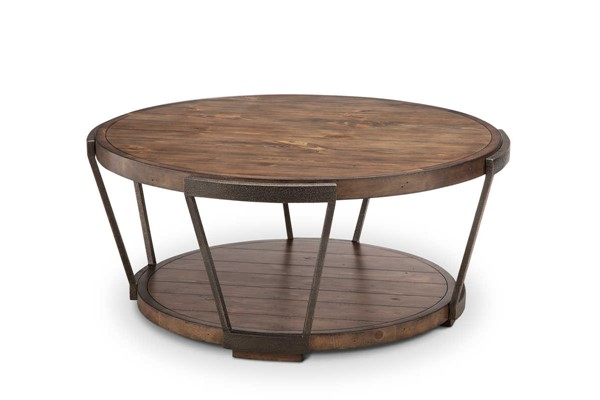 Magnussen Home Yukon Bourbon Round Cocktail Table MG-T4405-45
