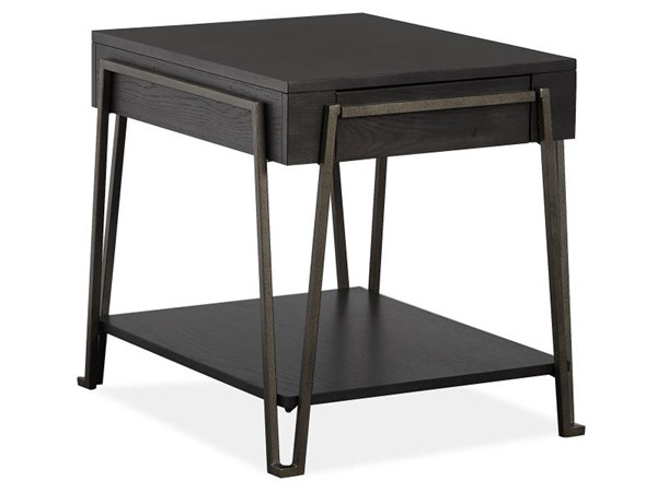 Magnussen Home Proximity Heights Smoked Anthracite Open End Table MG-T4450-03