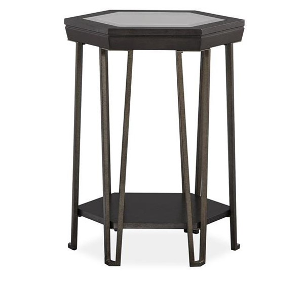 Magnussen Home Proximity Heights Smoked Anthracite Shaped Accent Table MG-T4450-34