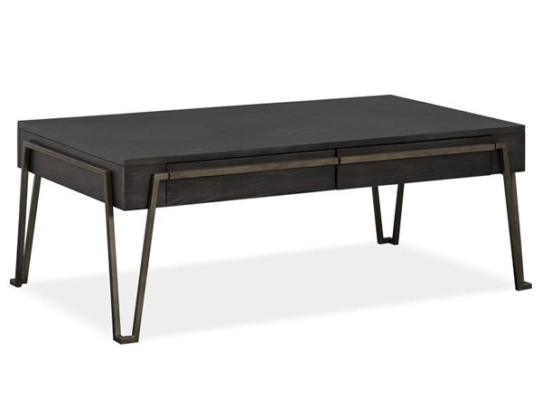 Magnussen Home Proximity Heights Smoked Anthracite 3pc Open Coffee Table Set MG-T4450-OCT-S1