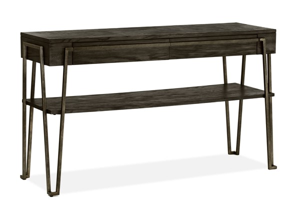 Magnussen Home Proximity Heights Smoked Anthracite Open Metal Sofa Table MG-T4450-73