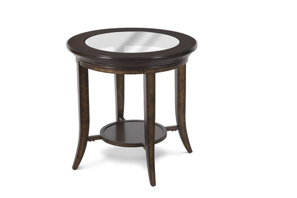 Magnussen Home Parsons Cognac Round End Table MG-T4518-05