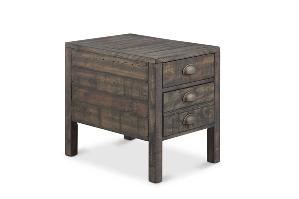 Magnussen Home Vernon Wood Rectangular End Table MG-T4531-03