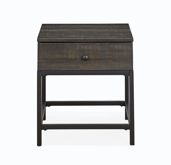 Magnussen Home Parker Distressed Whiskey Rectangular End Table MG-T4573-03