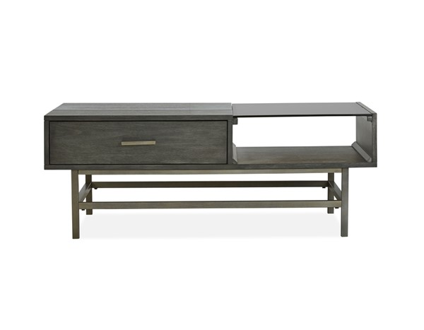 Magnussen Home Fulton Smoke Anthracite Lift Top Cocktail Table MG-T4574-51