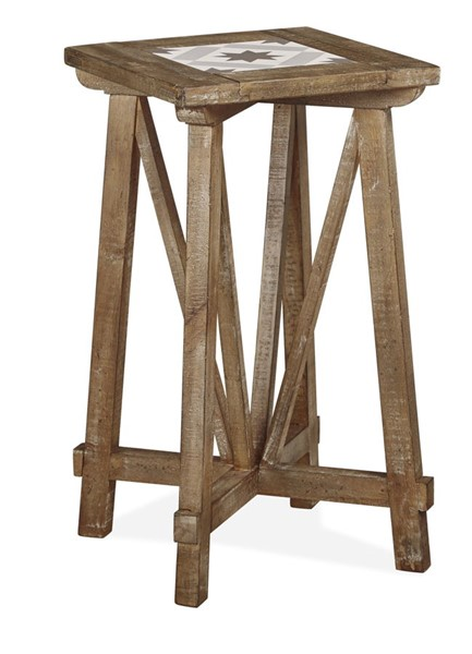 Magnussen Home Bluff Heights Weathered Nutmeg Square End Table MG-T4597-01