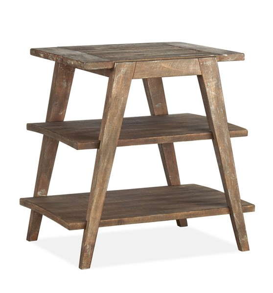 Magnussen Home Bluff Heights Weathered Nutmeg Shelf End Table MG-T4597-02