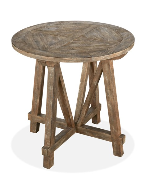 Magnussen Home Bluff Heights Weathered Nutmeg Round Accent Table MG-T4597-35