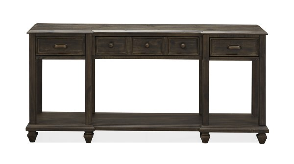 Magnussen Home Burkhardt Peppercorn Rectangular Sofa Table MG-T4612-73