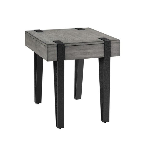 Magnussen Home Mavrick Foundry Grey Rectangular End Table MG-T4617-03