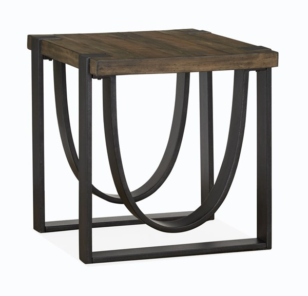 Magnussen Home Bowden Rustic Honey Rectangular End Table MG-T4635-03