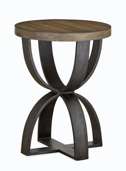 Magnussen Home Bowden Rustic Honey Round Accent Table MG-T4635-35