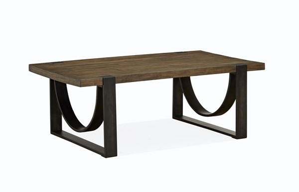 Magnussen Home Bowden Rustic Honey Rectangular Cocktail Table MG-T4635-43