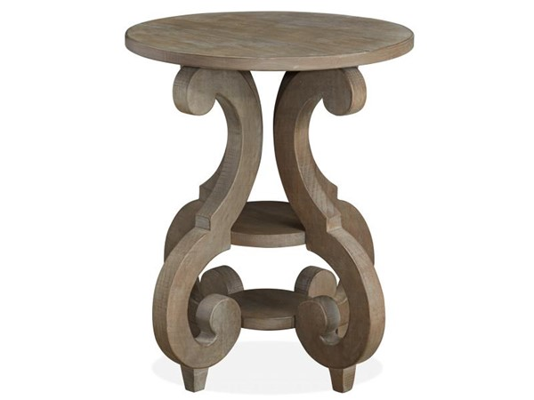 Magnussen Home Tinley Park Wood Round Accent End Table MG-T4646-35
