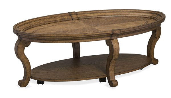 Magnussen Home Isabella Honey Wheat Oval Cocktail Table MG-T4712-47