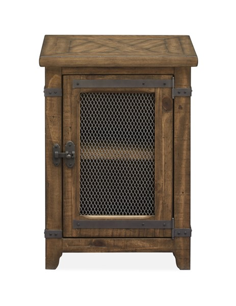 Magnussen Home Chesterfield Farmhouse Timber Chairside End Table MG-T4717-10