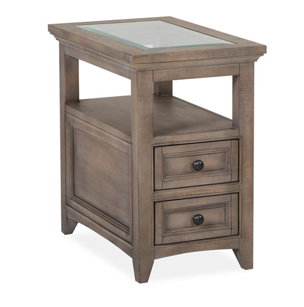 Magnussen Home Paxton Place Dovetail Grey Chairside End Table MG-T4805-10
