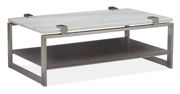 Magnussen Home Paradox Pearl White Rectangular Cocktail Table MG-T4852-43