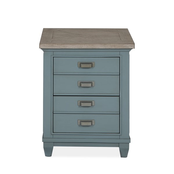 Magnussen Home Alys Beach Dark Teal Driftwood Chairside End Table MG-T4865-10