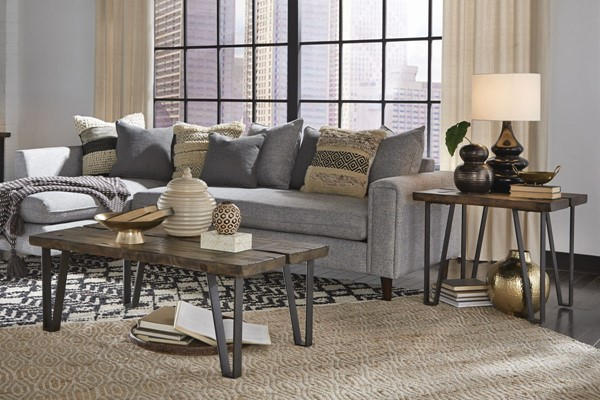 Magnussen Home Dartmouth Sawmill Galvanized Steel 3pc Coffee Table Set MG-T4904-OCT-S1