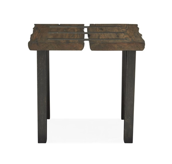 Magnussen Home Dartmouth Sawmill Galvanized Steel Rectangular End Table MG-T4904-03
