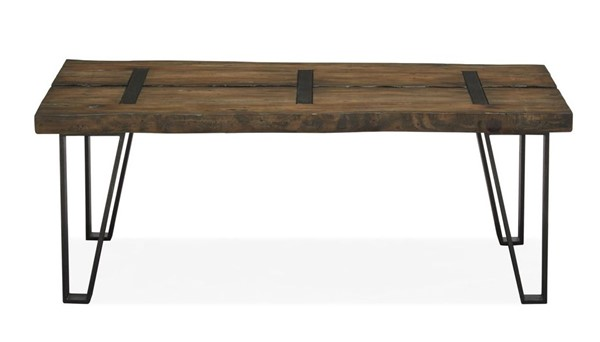 Magnussen Home Dartmouth Sawmill Galvanized Steel Rectangular Cocktail Table MG-T4904-43