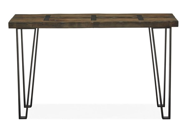 Magnussen Home Dartmouth Sawmill Galvanized Steel Rectangular Sofa Table MG-T4904-73