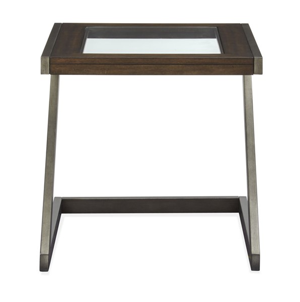 Magnussen Home Zahir Brindle Oxidized Zinc Rectangular End Table MG-T4910-03