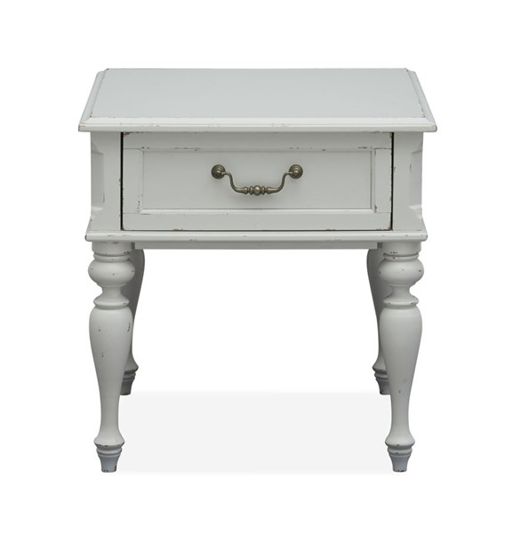 Magnussen Home Ava Distressed Cotton Rectangular End Table MG-T4912-03