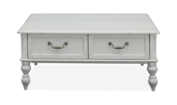 Magnussen Home Ava Distressed Cotton Square Lift Top Cocktail Table MG-T4912-53